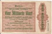 1,000,000,000 Mark (Stollberg) – avers