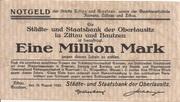1,000,000 Mark (Zittau und Bautzen) – avers