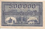 500,000 Mark (Meerane) – revers