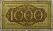 1000 Mark (Sächsische Bank) – revers