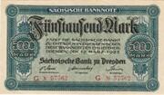 5000 Mark (Sächsische Bank) – avers