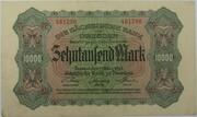 10,000 Mark (Sächsische Bank) – avers