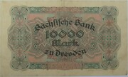 10,000 Mark (Sächsische Bank) – revers