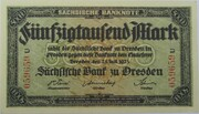 50,000 Mark (Sächsische Bank) – avers
