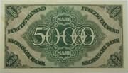 50,000 Mark (Sächsische Bank) – revers