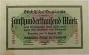 500,000 Mark (Sächsische Bank) – avers