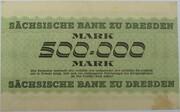 500,000 Mark (Sächsische Bank) – revers