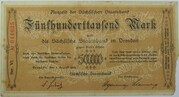 500,000 Mark (Sächsische Staatsbank) – avers