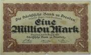 1,000,000 Mark (Sächsische Bank) – avers