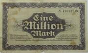 1,000,000 Mark (Sächsische Bank) – revers