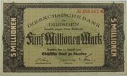 5,000,000 Mark (Sächsische Bank) – avers