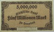 5,000,000 Mark (Sächsische Bank) – revers