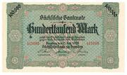 100,000 Mark Sächsische Bank – avers