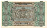 100,000 Mark Sächsische Bank – revers