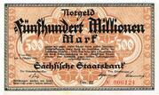 500,000,000 Mark Sächsische Staatsbank – avers
