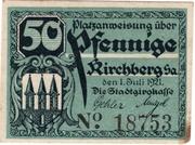 50 Pfennig (Kirchberg, Saxony) – avers