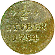 ¼ Stüber - Karl Wilhelm Friedrich – revers