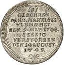 ⅛ Thaler - Georg Friedrich (Death) – revers