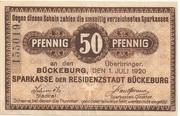 50 Pfennig (Bückeburg; Sparkasse) – avers