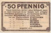 50 Pfennig (Bückeburg; Sparkasse) – revers
