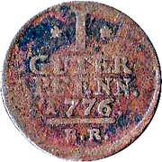1 pfennig Friedrich II – revers