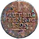 1 pfennig Wilhelm IX – revers