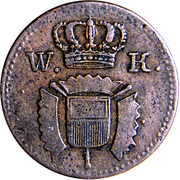1 pfennig Wilhelm I – avers