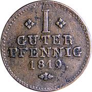 1 pfennig Wilhelm I – revers