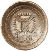 1 pfennig Karl (Frappe essai en cuivre) – avers
