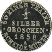 ½ Silbergroschen - Georg Wilhelm – revers