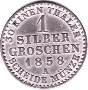 1 Silbergroschen - Georg Wilhelm – revers