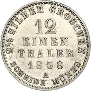 1/12 Thaler / 2½ Silbergroschen - Georg Wilhelm – revers