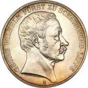 2 Thaler - Georg Wilhelm (Jubilé) – avers