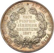 2 Thaler - Georg Wilhelm (Jubilé) – revers