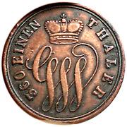 1 Pfennig - Georg Wilhelm – avers