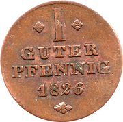 1 Guter Pfennig - Georg Wilhelm – revers