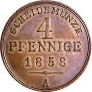 4 Pfennige - Georg Wilhelm – revers