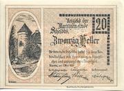 20 Heller (Scheibbs) – avers