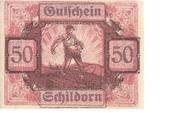 50 Heller (Schildorn) -  avers