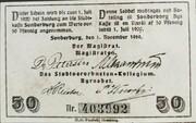 50 Pfennig (Schleswig-Holstein-Sonderburg) -  revers