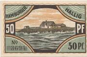 50 Pfennig (Hamburger Hallig) – revers