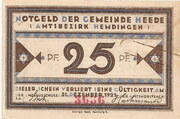 25 Pfennig (Heede) – avers