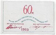 60 Pfennig (Bokel bei Pinneberg) – revers