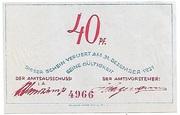 40 Pfennig (Bokel bei Pinneberg) – revers