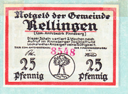 25 pfennig (Rellingen) – avers