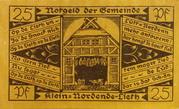 25 Pfennig (Klein-Nordende-Lieth, Municipality of) – avers