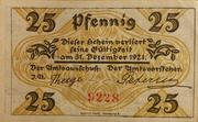 25 Pfennig (Klein-Nordende-Lieth, Municipality of) – revers