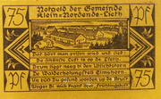 75 Pfennig (Klein-Nordende-Lieth, Municipality of) – avers