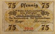 75 Pfennig (Klein-Nordende-Lieth, Municipality of) – revers