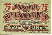 75 Pfennig (Bredstedt) – avers